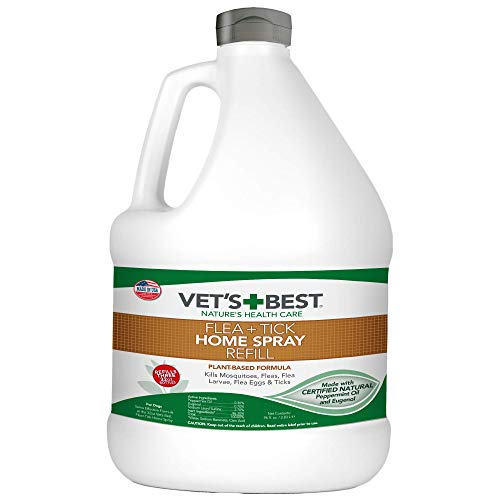 Vet's Best Flea and Tick Home Spray | Flea Treatment for Dogs and Home | Flea Killer with Certified Natural Oils | 96 Ounces Refill