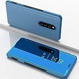 Funda Compatible Con Sony Xperia XZ4 Carcasa Espejo Mirror Flip Protección de teléfono Slim Fit Caja del teléfono Transparente Vista clara Billetera