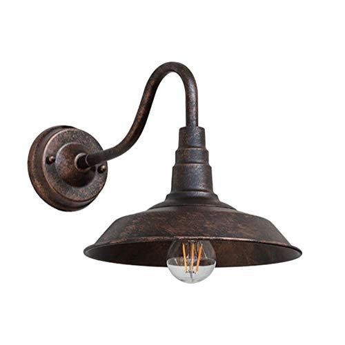 Buitenlamp Retro IP23 buitenwandlamp roestkleurige wandlamp aluminium gegoten E27 buitenlamp tuinlamp ingangsverlichting buitenverlichting 26 x 25 x 40 cm