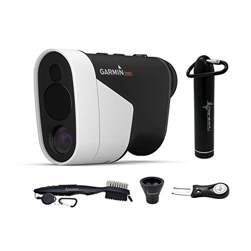Garmin Approach Z80 Laser Golf Rangefinder with GPS Feature and Wearable4U All-in-One Golf Tools Bundle