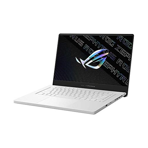 ASUS ROG Zephyrus G15 39,6 cm (15,6 Zoll, QHD, IPS-Level, 165 Hz, matt) Gaming-Notebook (AMD R9-5900HS, 16GB RAM, 1TB SSD, NVIDIA GeForce RTX3080 (8GB), Windows 10 Pro) Moonlight white