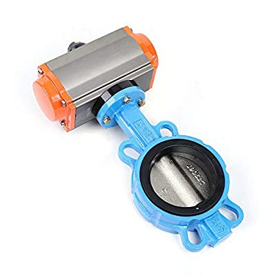 """4"""" DN100 Double Acting Butterfly Valve Wafer Type Sealing Nitrile Pneumatic by Xianxus"""