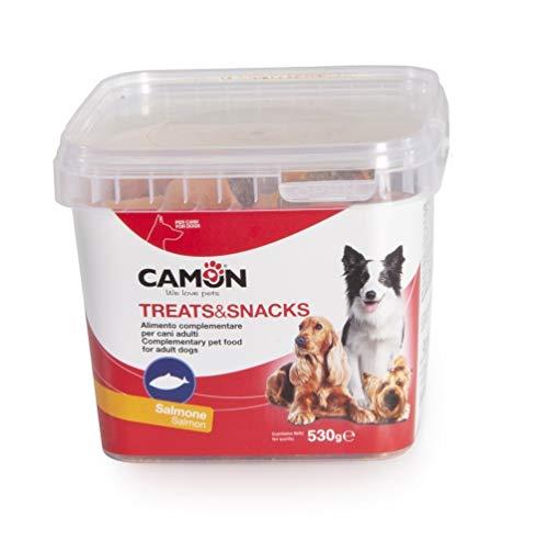 Camon Treats & Snack Biscotti Rolls per Cani al Salmone Snack per Cani al Gusto di Salmone 530g