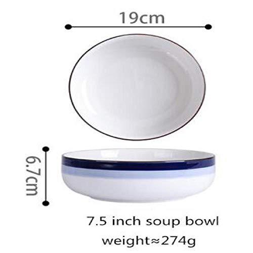 Teller Teller Keramik Küchenteller Geschirr Set Speisen Geschirr Reissalat Nudeln Schüssel Suppe Küche 19Cm Suppenschale