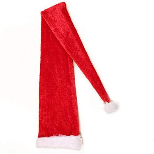 LIDEBLUE Sombrero de Santa Claus de 61 pulgadas de largo, sombrero de cola larga de elfo de Navidad novedad rojo muñeco de nieve adornos para decoración de fiestas de vacaciones