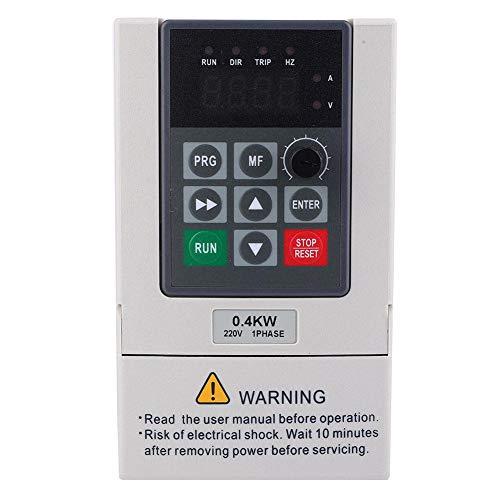 【𝐕𝐞𝐧𝐭𝐚 𝐑𝐞𝐠𝐚𝐥𝐨 𝐏𝐫𝐢𝐦𝐚𝒗𝐞𝐫𝐚】 Inversor de frecuencia, 0.4KW monofásico a trifásico 220V variador de frecuencia convertidor de motor convertidor inversor