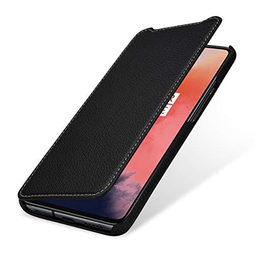 StilGut Hülle geeignet für OnePlus 7T Lederhülle Book Type, schwarz