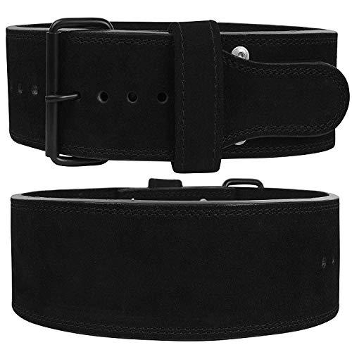 Hawk Sports Powerlifting Belt Single Prong 10mm Weight Lifting Belt Deadlift & Squat Workout Gym Weightlifting Belt/Belts for Men & Women (Black, M)