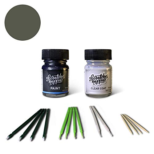 ScratchesHappen Exact-Match Touch Up Paint Kit Compatibel met Ford/Lincoln Dark Shadow Gray (CX/M7039A) Essential