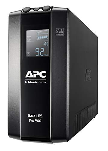 APC by Schneider Electric Back UPS PRO BR900MI Gruppo di Continuità UPS, 900VA, 6 Uscite IEC, Interfaccia LCD, Protezione Linea Dati da 1 GB