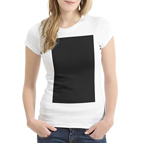 Lässig Mehrere Muster Shirt T-Shirt für Frau drakblack 3X-Large