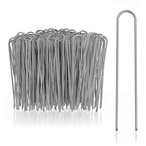 com-four® 200x Erdanker aus beschichtetem Stahl - robuste Erdnägel zur Befestigung von Unkrautvlies und Folien - Bodenanker für Garten und Camping