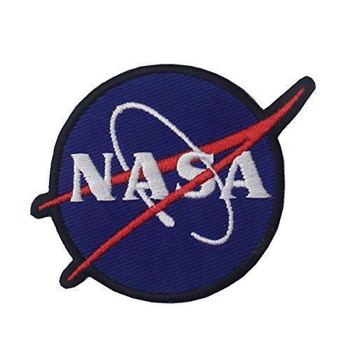 CasStar Aufnaeher Aufbuegler Patches Applikation Buegelbild NASA Logo