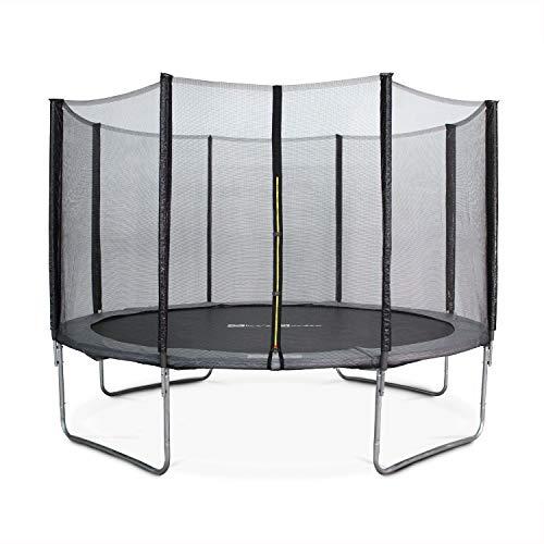 Alice\'s Garden - Cama elastica, Trampolin de 490 cm, aguanta hasta 150 kg (estructura reforzada). Inluye: red de protección- JUPITER