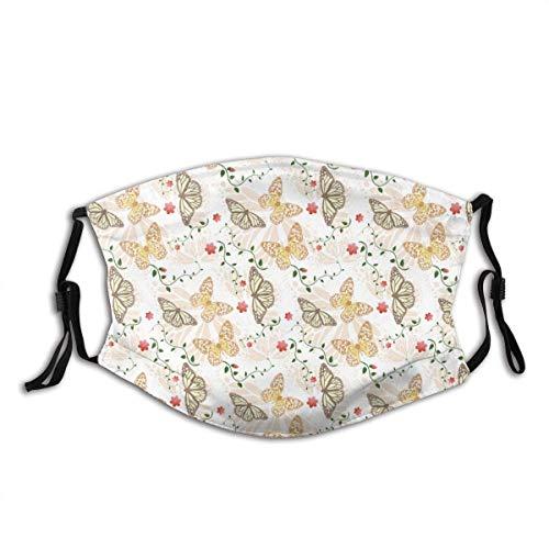 Butterfly Seamless Background SRC Unisex Waschbarer und wiederverwendbarer Warmer Gesichtsschutz aus Baumwolle für FSD-760 im Freien