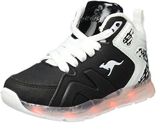 KangaROOS Unisex-Kinder K-Lev VIII HI Hohe Sneaker, Schwarz (Jet Black), 32 EU