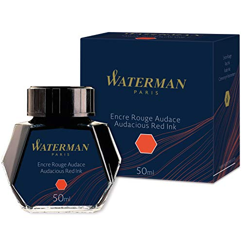 Waterman - Tinta para pluma estilográfica, rojo audaz, frasco de 50ml