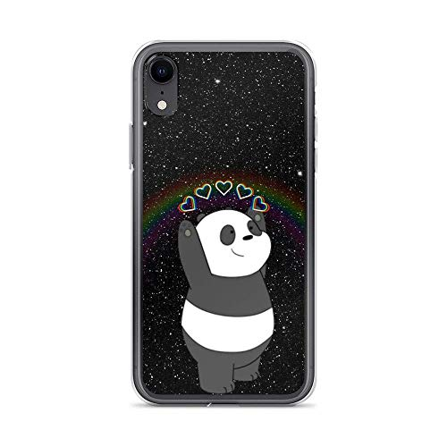 Compatible with iPhone 11 6/6s Case We Bare Bears Panda Love Galaxy American Animated Series Pure Clear Phone Cases Cover