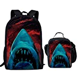 HUGS IDEA Mochila infantil Azul Shark Head 1 Pattern Set