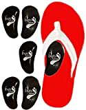 Foots Love 6 Peel & Stick Arch Support Soft Gel Pads, Plantar Fasciitis Insoles. 3-D Arch Tech Comfortably Aligns to Turn Off Pain Points-Heel Spurs, Flat Feet, High-Flat Arch Pain. Guaranteed