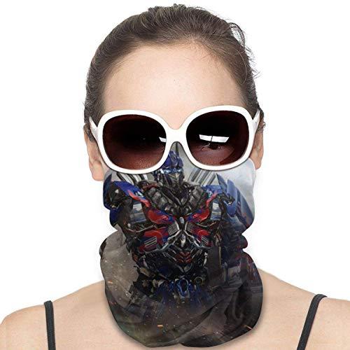 Quintion Robeson Optimus Prime Variety Pañuelo Facial a Prueba de Viento Bufanda sin Costuras Pañuelos multifuncionales Pañuelos de Microfibra Unisex Variedad para la Cabeza Negro HDW-1540