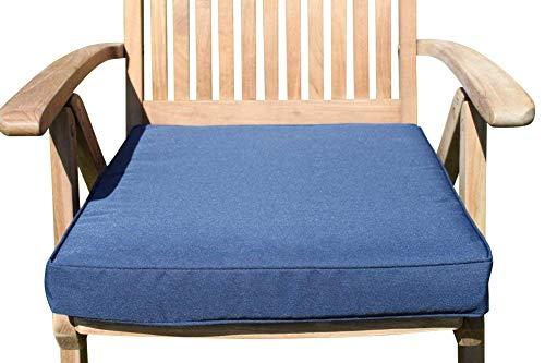Garden Market Place Gartenmöbel-Kissen für große Gartenstühle, Marineblau, blau, 95 X 45 X 35