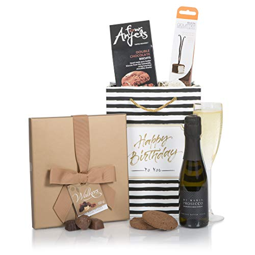 The Chocolate and Prosecco Birthday Hamper - Great Value Birthday Gift Hamper For Her - Birthday Hampers and Gift Baskets