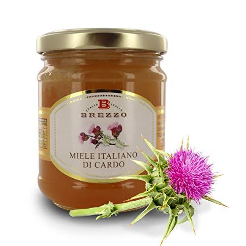 Brezzo Miele italiano de Cardo, 12 tarros de 250 gramos (Tot. 3 kg)