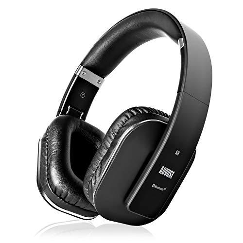 August EP650 - Bluetooth Kopfhörer v4.2 NFC mit aptX Low Latency - Stereo Over Ear Headph...