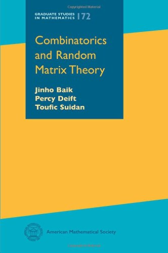 Compare Textbook Prices for Combinatorics and Random Matrix Theory Graduate Studies in Mathematics  ISBN 9780821848418 by Jinho Baik,Percy Deift,Toufic Suidan