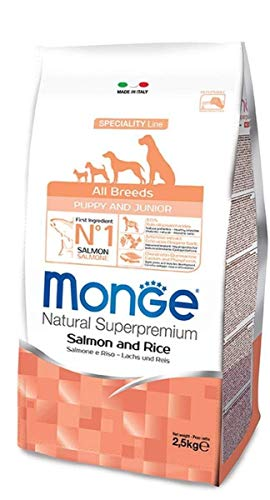 Monge Super Premium All-Breeds Puppy Salmone-Riso 12 Kg