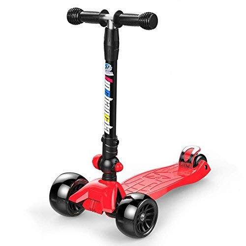 AIOJY Teens Folding Kick Scooter- 2 Big PU Wheels, Adjustable Grip,Reinforced Deck Toddler Scooter Stunt Scooters, Best Gift for Age 8 Up Kids Girls Boys, Child Scooter