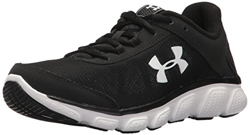 Under Armour Women's Micro G Assert 7 Running Shoe, Black (001)/White, 7.5