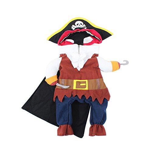 Feli546Bruce Haustier-Kostüm für Hunde und Katzen, Piratenkostüm für Halloween, Party, Welpen, Verkleidungen