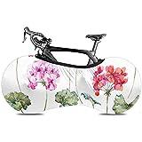 UQ Galaxy Cubierta De Rueda De Bicicleta,Flower Geranium Pink Red Bike Cubierta De Bicicleta, Cubiertas De Bicicleta De Calidad Suave para Cruiser Single Speed Bike