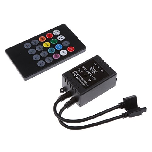 MagiDeal 12V Music RGB Controller LED 20 Tasten IR Remote Controller für einfarbige LED Streifen Licht Leuchte Lampe