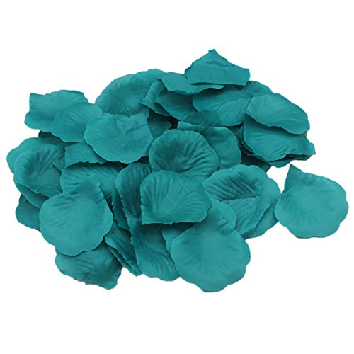 AllHeartDesires Teal Rose Flower Petals Wedding Table Confetti Bridal Shower Party Favor Decoration (1,000)