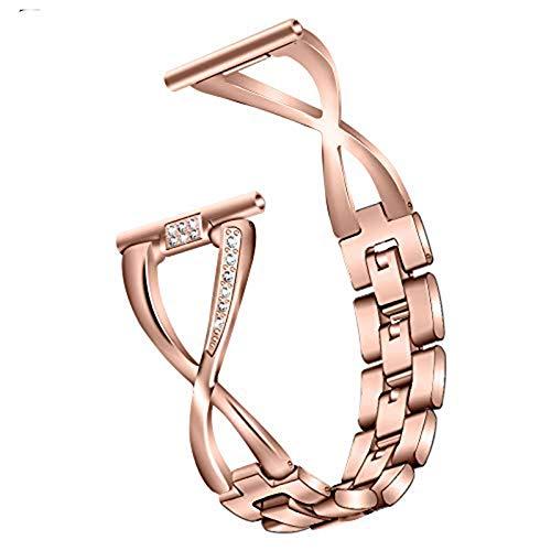 Ruentech Kompatibel mit Fossil Gen 4 Q Venture Hr Armband Bands Ersatz Edelstahl Armbänder Kompatibel mit Fossil Gen 4 Q Venture Hr Damen Armbands Metall (Rosegold)