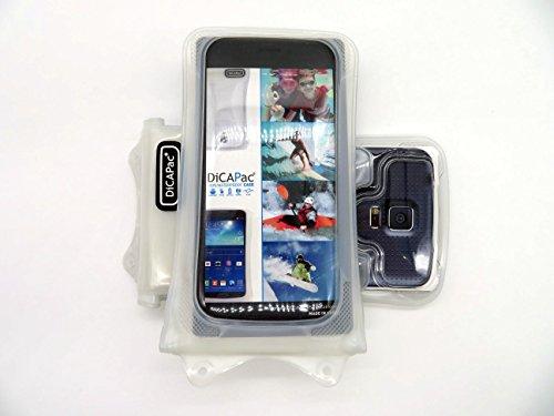 DiCAPac WP-C1 Universelle wasserdichte Hülle für ZTE Imperial II/Maven/Open L / V5 Lux Smartphones in Weiß (10m, IPX8-Zertifizierung)