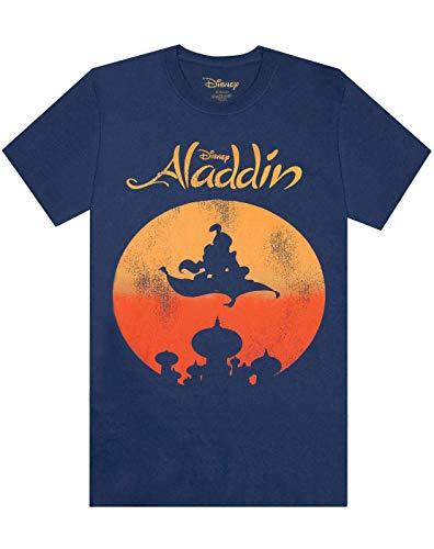 Disney - Aladdin Magic Carpet Distressed Print Men's T-Shirt