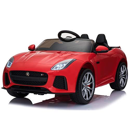Homcom Voiture véhicule électrique Enfants 12 V - V. Max. 8 Km/h Effets sonores + Lumineux Rouge...