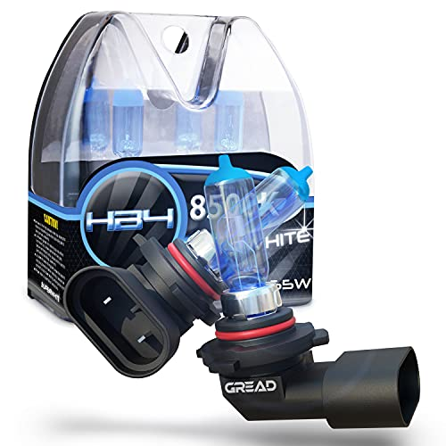 Gread -Halogène Ampoules de phare HB4 55W pour voitures, Apparence au xénon, 8500k super blanc, 2 pièces
