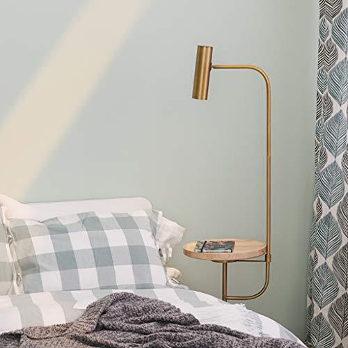 Staande lamp, draadloos, tafellamp met tafel, woonkamer, sokkel van marmer, slaapkamerlamp, leeslamp W12/31