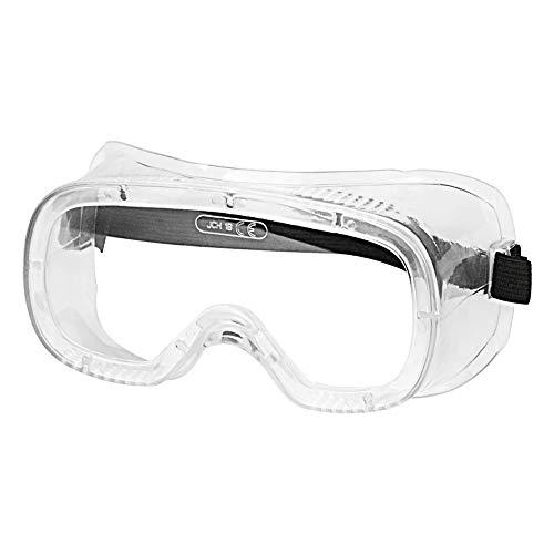 stonylab Gafas de Seguridad, Transparentes Antivaho Ajustables Ligeras, Safety Goggles Gafas de Laboratorio Lentes Protectoras, Resistente a Salpicaduras Química y Impactos - Transparente