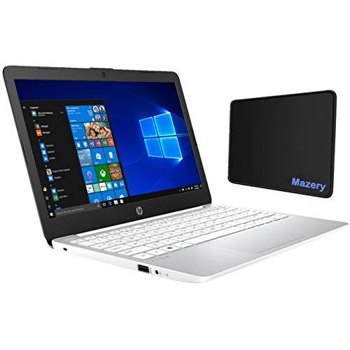HP Stream 11.6-inch Laptop, Intel Celeron N4000 up to 2.6 GHz, 4GB DDR4 RAM, 64GB eMMC, Bluetooth, Webcam, WiFi, HD Audio, One-Year Office 365 Included, Windows 10 S w/Mazery Mousepad
