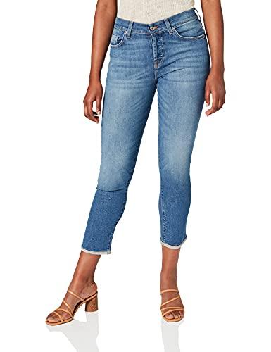 7 For All Mankind Damen Boyfriend Jeans Asher, Blau (Vintage Robertson 0Fx),W31/L34