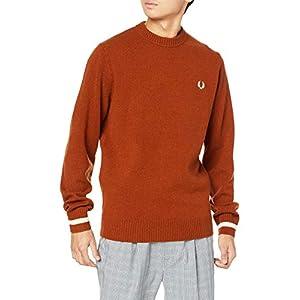 [フレッドペリー] セーター TIPPED CREW NECK JUMPER K9535 メンズ PAPRIKA UK S (日本サイズM相当)