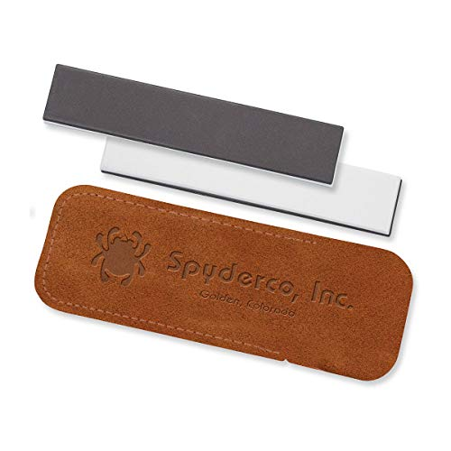 Spyderco Medium and Fine Pocket Stone Knife Sharpener,White,303MF