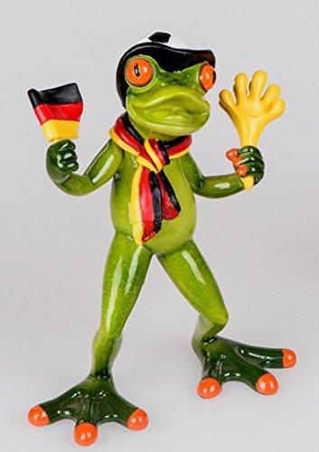 Formano Dekofigur Frosch Fan Fußball handbemalt 717108A