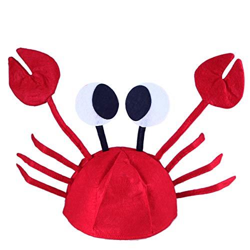TENDYCOCO Party Stirnbänder Krebs Mütze Krabbe Hut für Kinder Baby Party Dekoration (Rot)